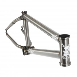 TOTAL BMX VOLTRON V2 20.6 RAW CLEAR COAT FRAME