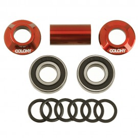 BOITIER PEDALIER MID BB COLONY 19MM RED