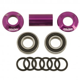 BOITIER PEDALIER MID BB COLONY 19MM PURPLE