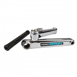 HARO LINEAGE GROUP 1 165MM CHROME CRANKSET