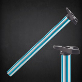 LINEAGE TRIPOD FLUTED POST 25.4 TEAL/SILVER
