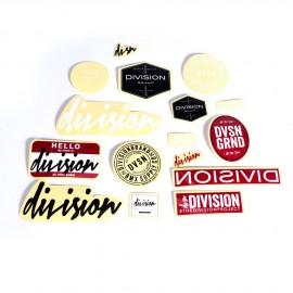 PACK STICKERS DIVISION BMX